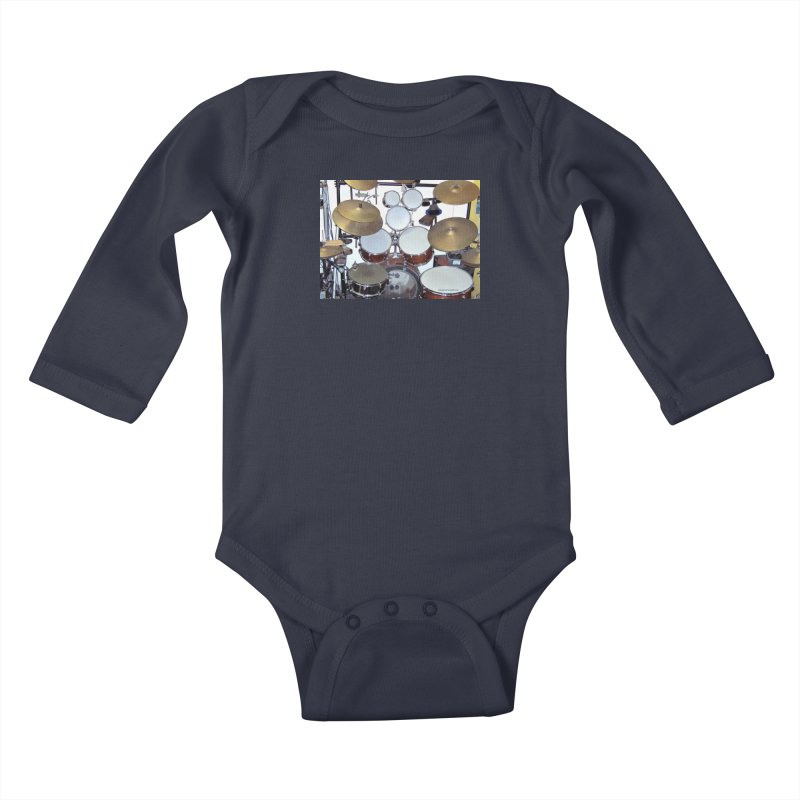 I need a BIG Drumset! Kids Baby Longsleeve Bodysuit by EdHartmanMusic Swag Shop!