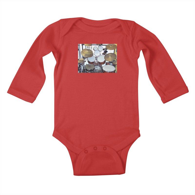 I need a BIG Drumset! Kids Baby Longsleeve Bodysuit by EdHartmanMusic Swag Shop!