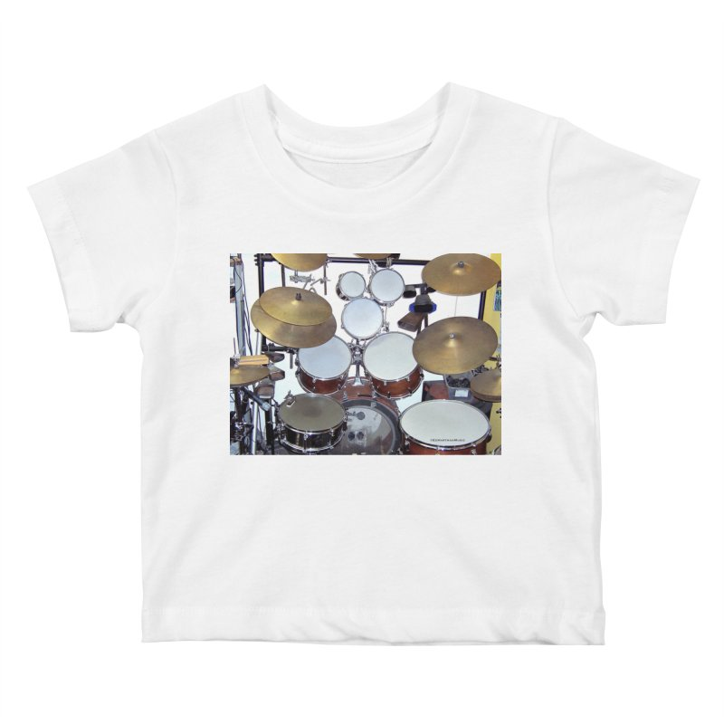 I need a BIG Drumset! Kids Baby T-Shirt by EdHartmanMusic Swag Shop!