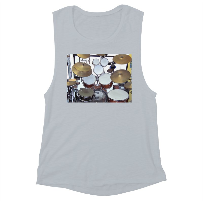 I need a BIG Drumset! Women's Muscle Tank by EdHartmanMusic Swag Shop!