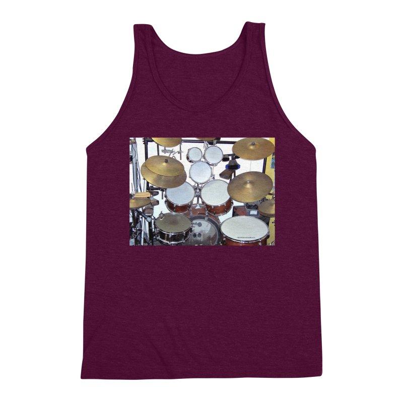 I need a BIG Drumset! Men's Triblend Tank by EdHartmanMusic Swag Shop!