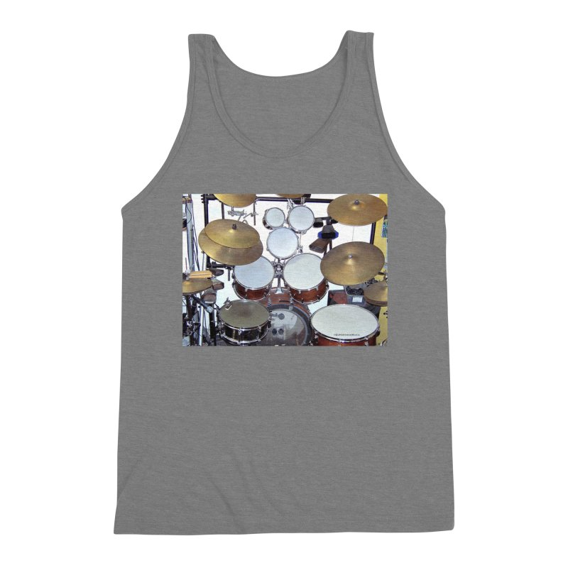 I need a BIG Drumset! Men's Triblend Tank by EdHartmanMusic Swag Shop!