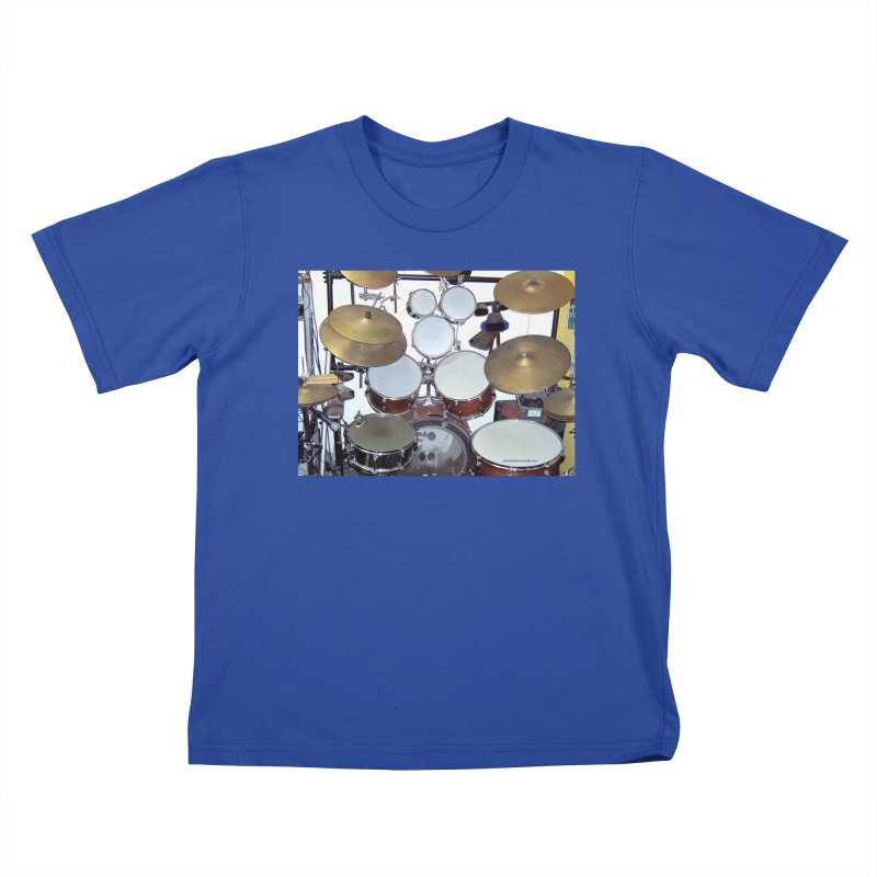 I need a BIG Drumset! Kids T-Shirt by EdHartmanMusic Swag Shop!