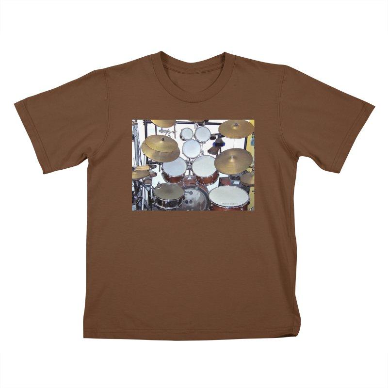 I need a BIG Drumset! Kids T-Shirt by EdHartmanMusic Swag Shop!