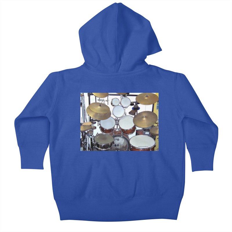 I need a BIG Drumset! Kids Baby Zip-Up Hoody by EdHartmanMusic Swag Shop!