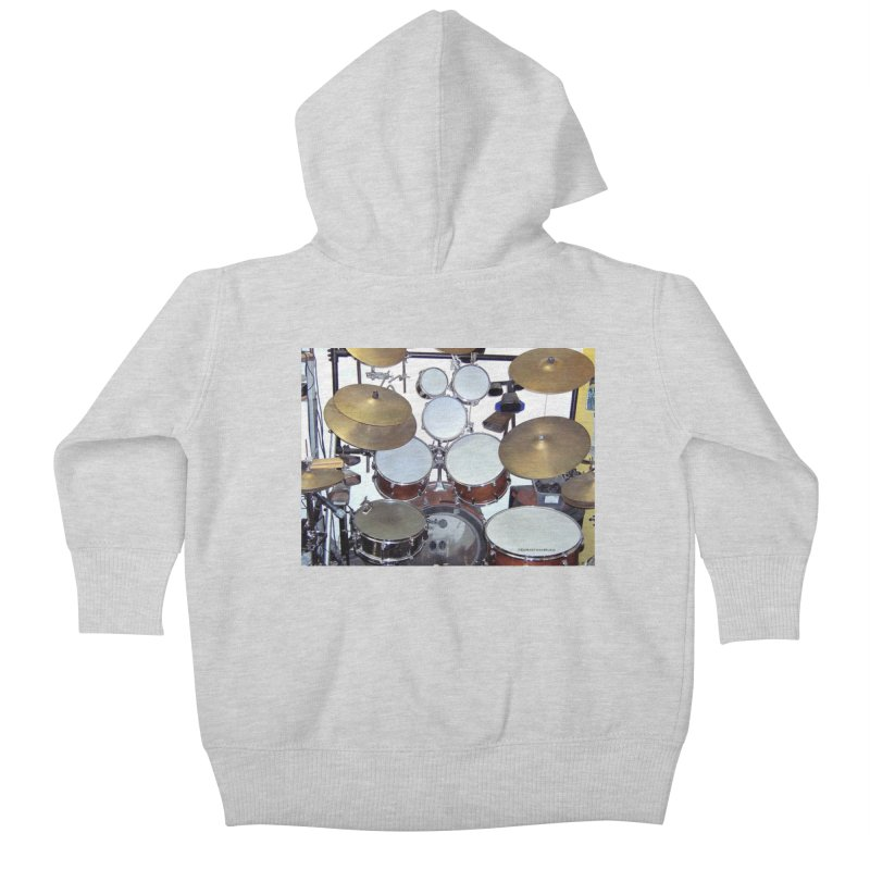 I need a BIG Drumset! Kids Baby Zip-Up Hoody by EdHartmanMusic Swag Shop!