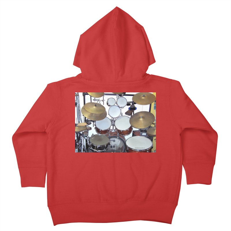 I need a BIG Drumset! Kids Toddler Zip-Up Hoody by EdHartmanMusic Swag Shop!