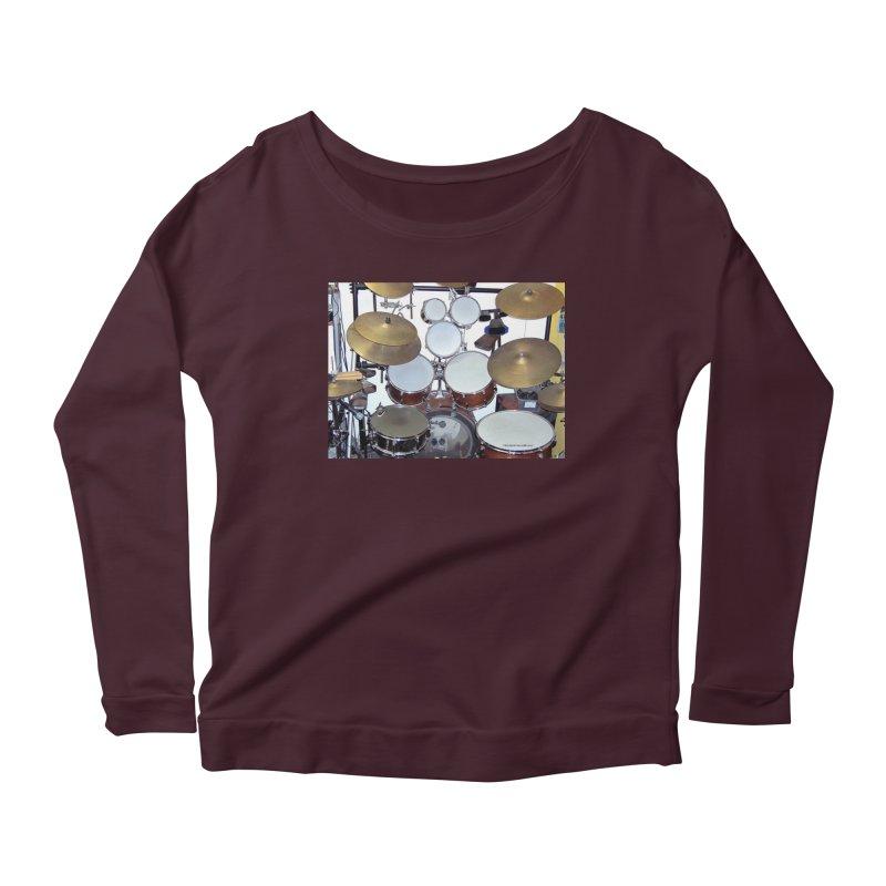 I need a BIG Drumset! Women's Longsleeve T-Shirt by EdHartmanMusic Swag Shop!