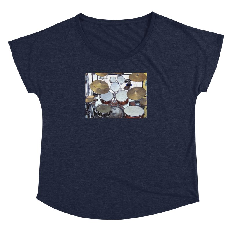 I need a BIG Drumset! Women's Scoop Neck by EdHartmanMusic Swag Shop!