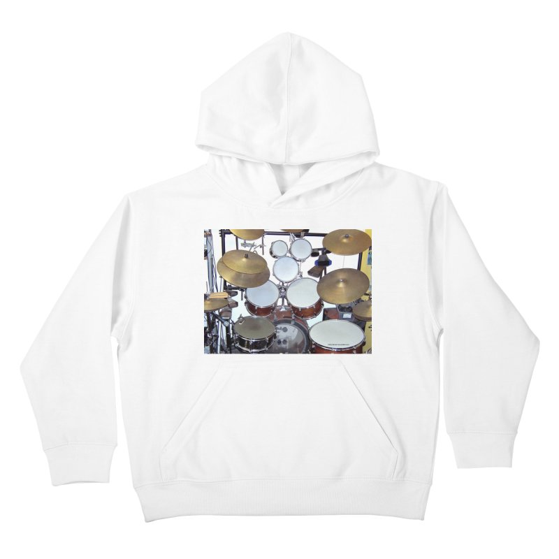 I need a BIG Drumset! Kids Pullover Hoody by EdHartmanMusic Swag Shop!