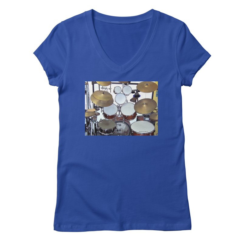 I need a BIG Drumset! Women's V-Neck by EdHartmanMusic Swag Shop!