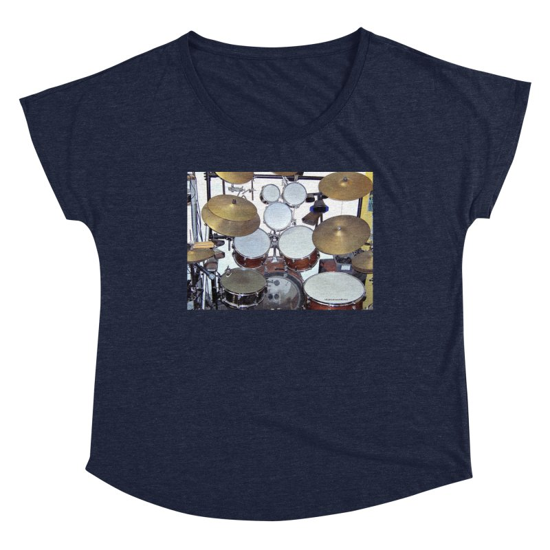 I need a BIG Drumset! Women's Dolman Scoop Neck by EdHartmanMusic Swag Shop!