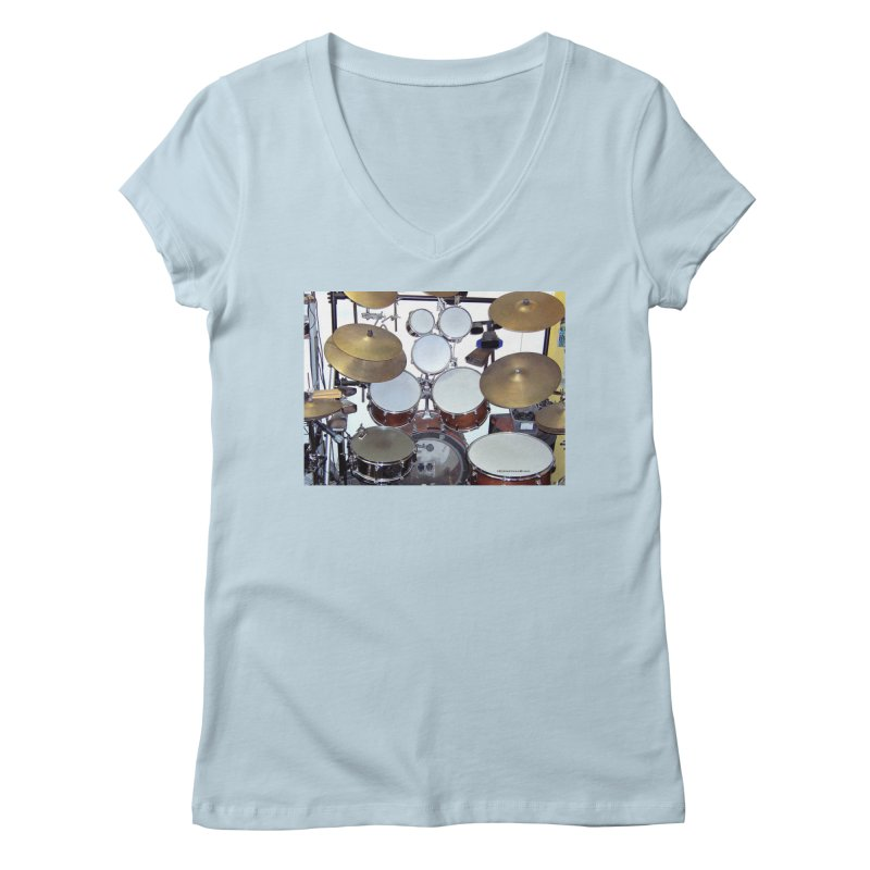 I need a BIG Drumset! Women's Regular V-Neck by EdHartmanMusic Swag Shop!