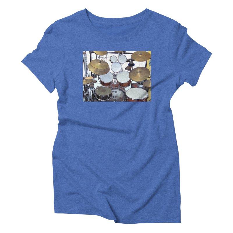 I need a BIG Drumset! Women's Triblend T-Shirt by EdHartmanMusic Swag Shop!
