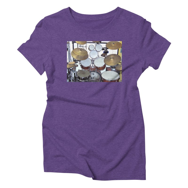 I need a BIG Drumset! Women's Triblend T-Shirt by EdHartmanMusic Swag Shop!