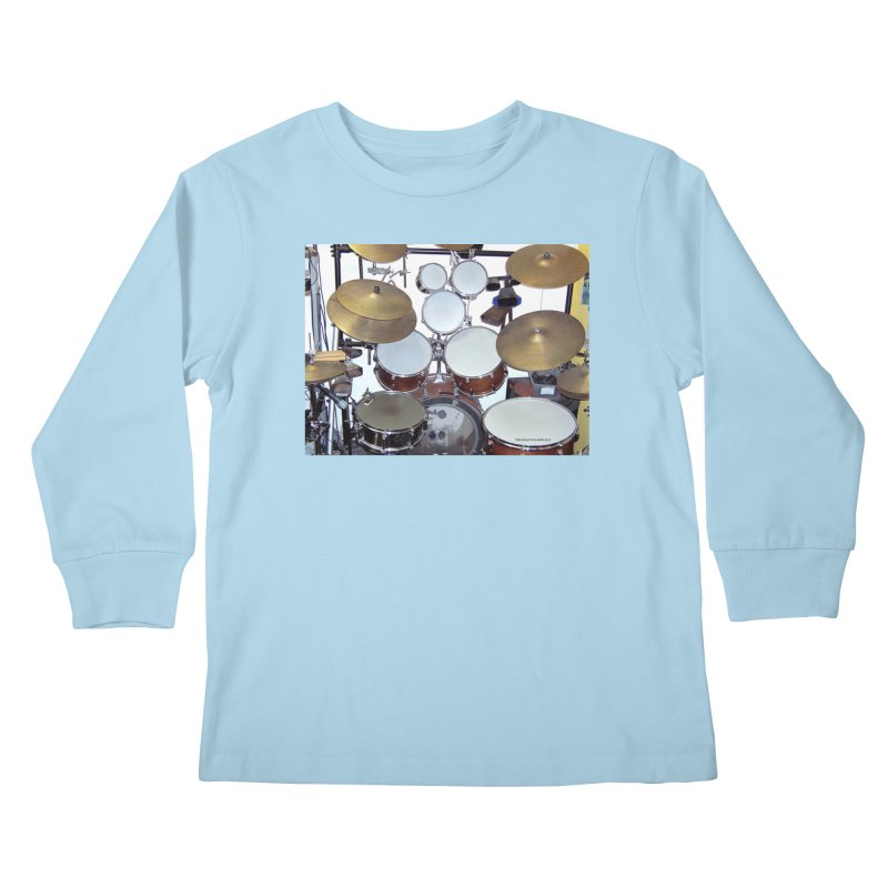 I need a BIG Drumset! Kids Longsleeve T-Shirt by EdHartmanMusic Swag Shop!