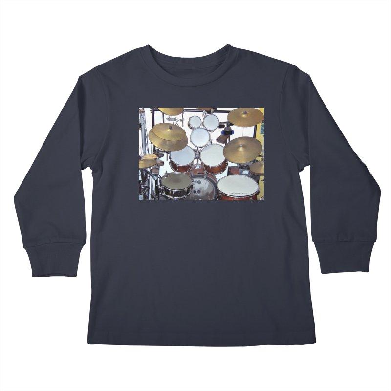 I need a BIG Drumset! Kids Longsleeve T-Shirt by EdHartmanMusic Swag Shop!