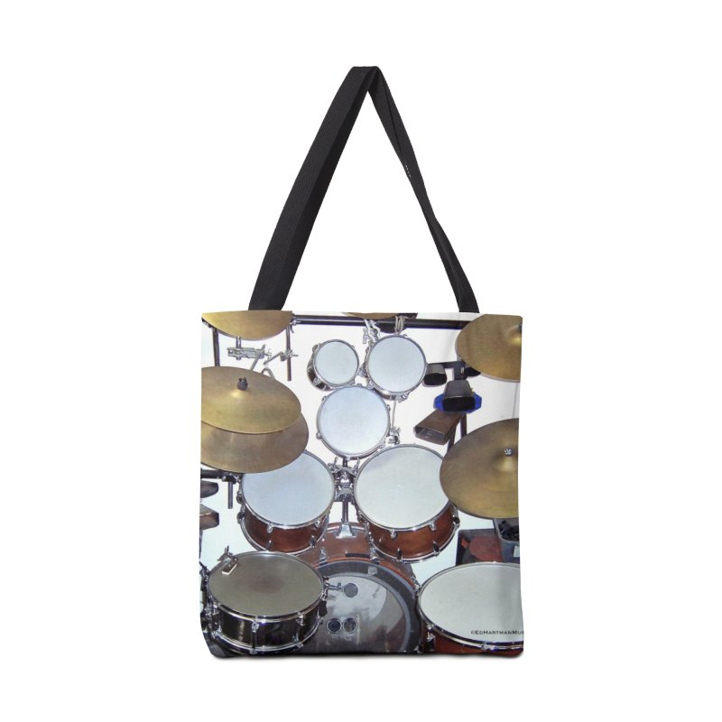 I need a BIG Drumset! Accessories Tote Bag Bag by EdHartmanMusic Swag Shop!