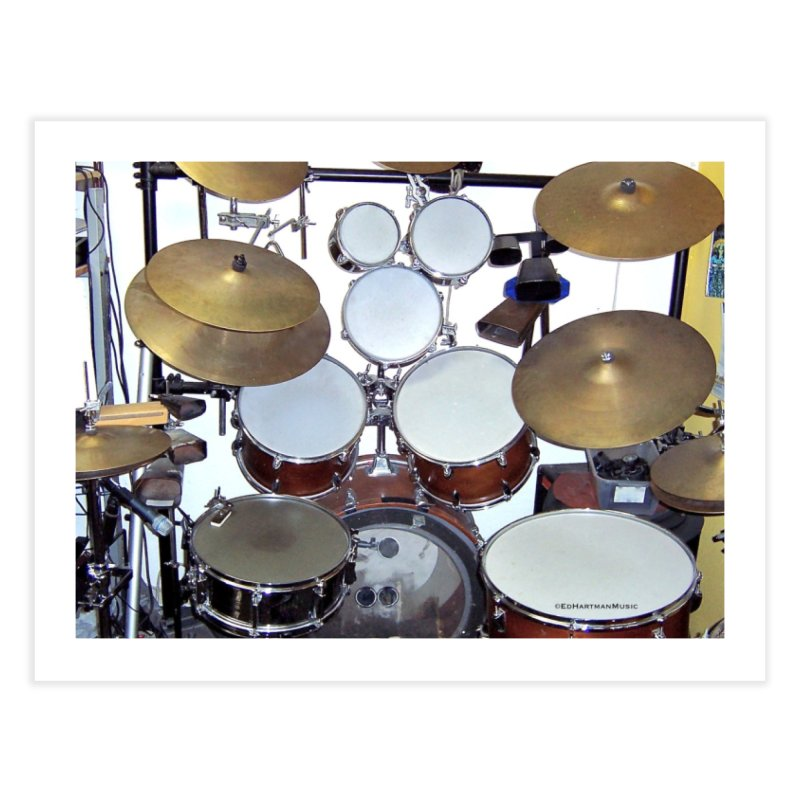 I need a BIG Drumset! Home Fine Art Print by EdHartmanMusic Swag Shop!
