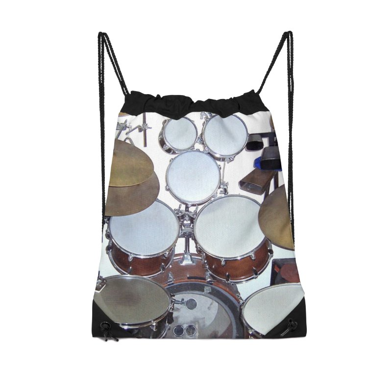 I need a BIG Drumset! Accessories Drawstring Bag Bag by EdHartmanMusic Swag Shop!