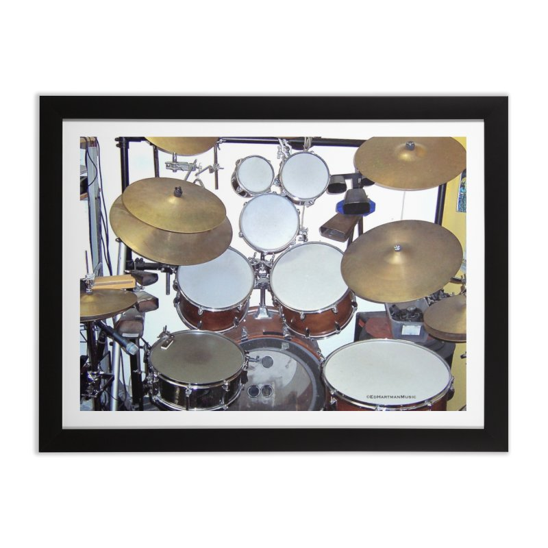 I need a BIG Drumset! Home Framed Fine Art Print by EdHartmanMusic Swag Shop!
