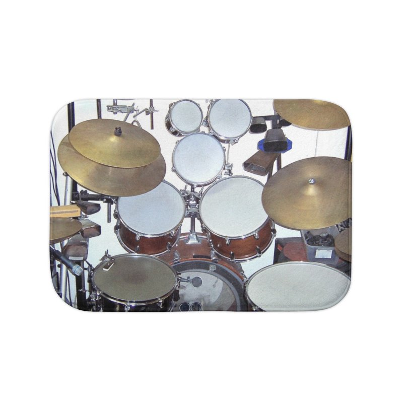 I need a BIG Drumset! Home Bath Mat by EdHartmanMusic Swag Shop!