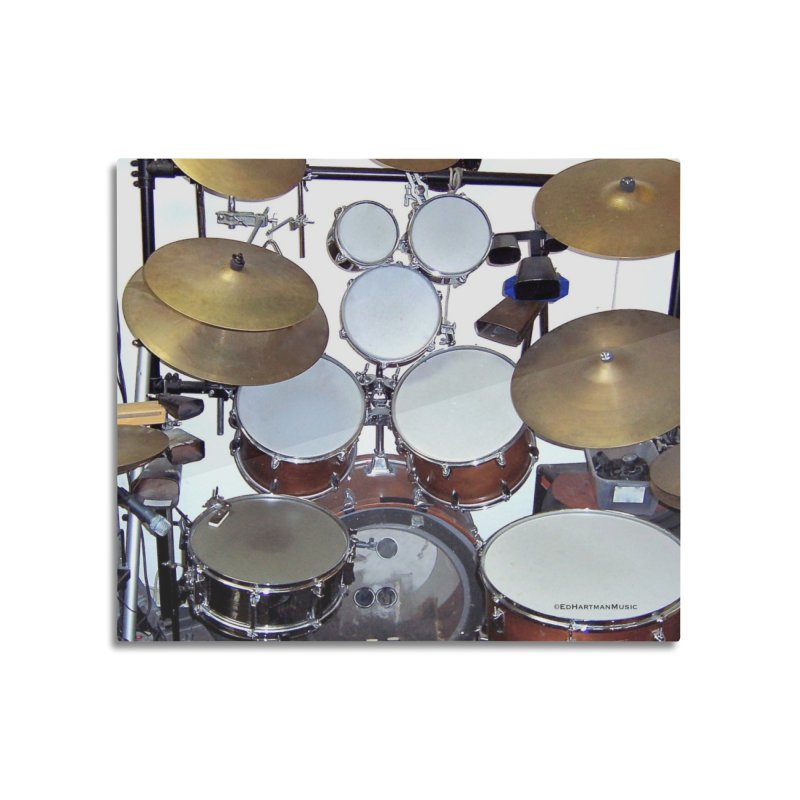 I need a BIG Drumset! Home Mounted Aluminum Print by EdHartmanMusic Swag Shop!