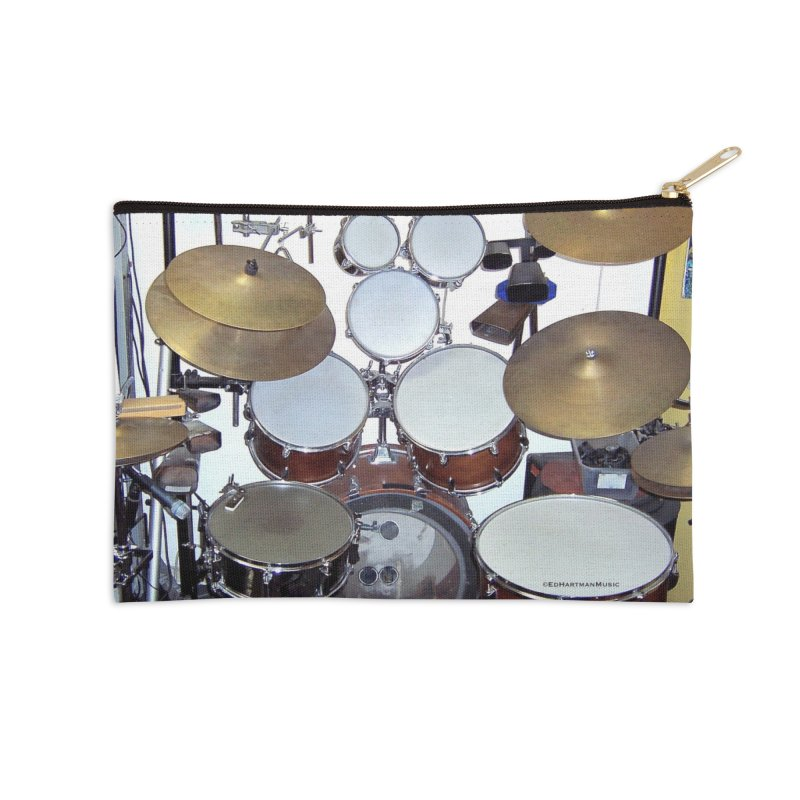 I need a BIG Drumset! Accessories Zip Pouch by EdHartmanMusic Swag Shop!