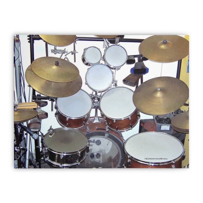 I need a BIG Drumset! Home Stretched Canvas by EdHartmanMusic Swag Shop!