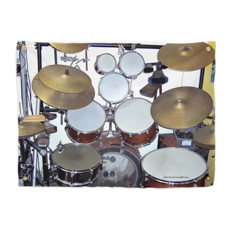 I need a BIG Drumset! Home Tapestry by EdHartmanMusic Swag Shop!