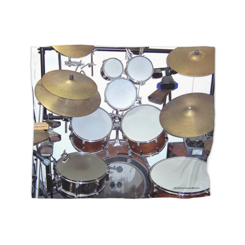 I need a BIG Drumset! Home Fleece Blanket Blanket by EdHartmanMusic Swag Shop!