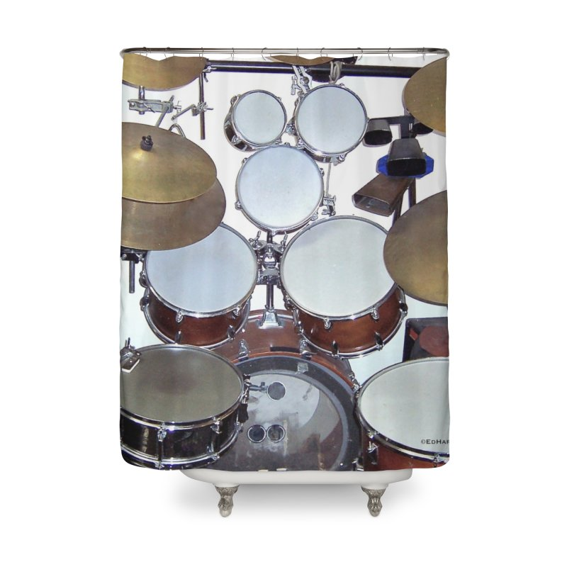I need a BIG Drumset! Home Shower Curtain by EdHartmanMusic Swag Shop!