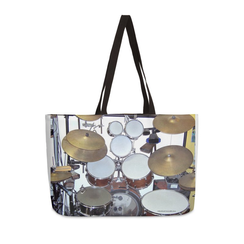 I need a BIG Drumset! Accessories Weekender Bag Bag by EdHartmanMusic Swag Shop!