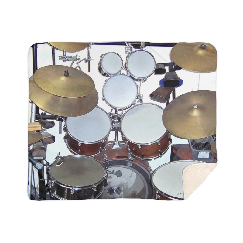 I need a BIG Drumset! Home Sherpa Blanket Blanket by EdHartmanMusic Swag Shop!