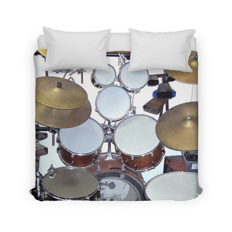 I need a BIG Drumset! Home Duvet by EdHartmanMusic Swag Shop!