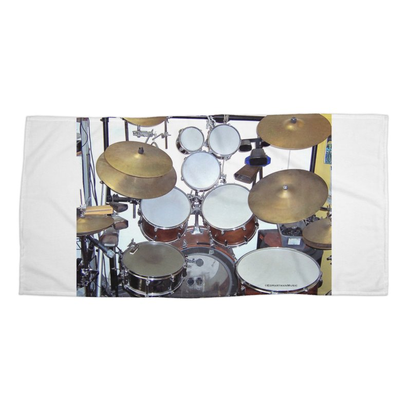 I need a BIG Drumset! Accessories Beach Towel by EdHartmanMusic Swag Shop!