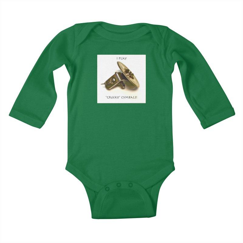 "I Play ""Greeko"" Cymbals! Kids Baby Longsleeve Bodysuit by EdHartmanMusic Swag Shop!"