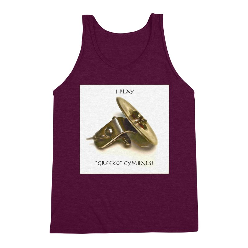 "I Play ""Greeko"" Cymbals! Men's Triblend Tank by EdHartmanMusic Swag Shop!"