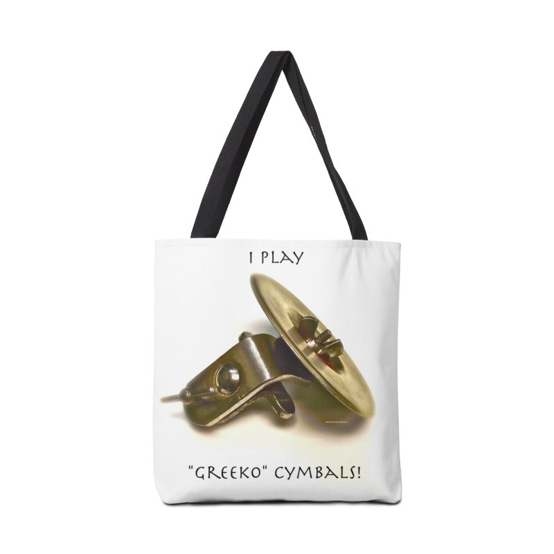"I Play ""Greeko"" Cymbals! Accessories Tote Bag Bag by EdHartmanMusic Swag Shop!"