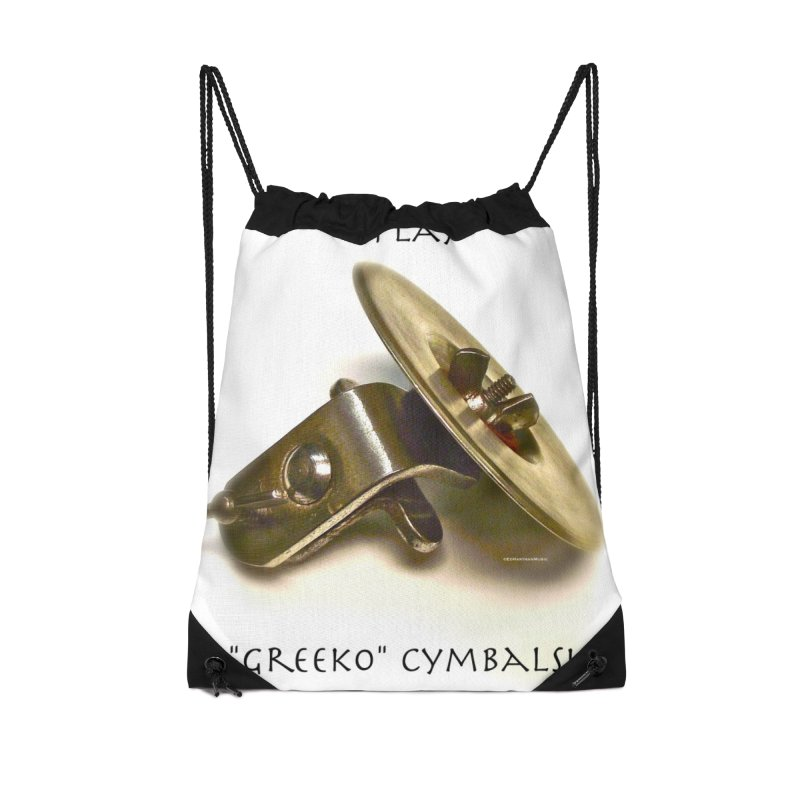 "I Play ""Greeko"" Cymbals! Accessories Drawstring Bag Bag by EdHartmanMusic Swag Shop!"