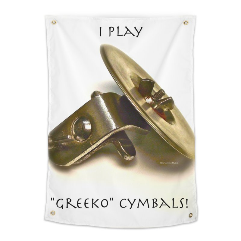 "I Play ""Greeko"" Cymbals! Home Tapestry by EdHartmanMusic Swag Shop!"