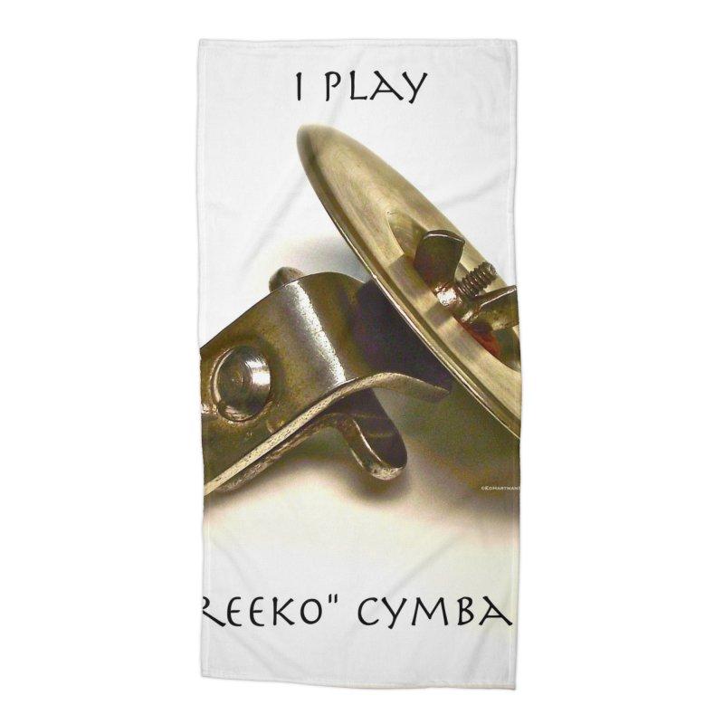 "I Play ""Greeko"" Cymbals! Accessories Beach Towel by EdHartmanMusic Swag Shop!"