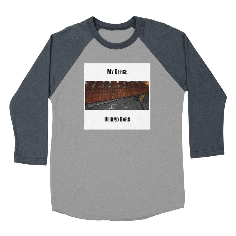 My Office Behind Bars Women's Baseball Triblend Longsleeve T-Shirt by EdHartmanMusic Swag Shop!