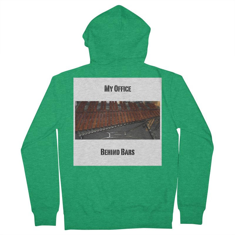 My Office Behind Bars Men's Zip-Up Hoody by EdHartmanMusic Swag Shop!
