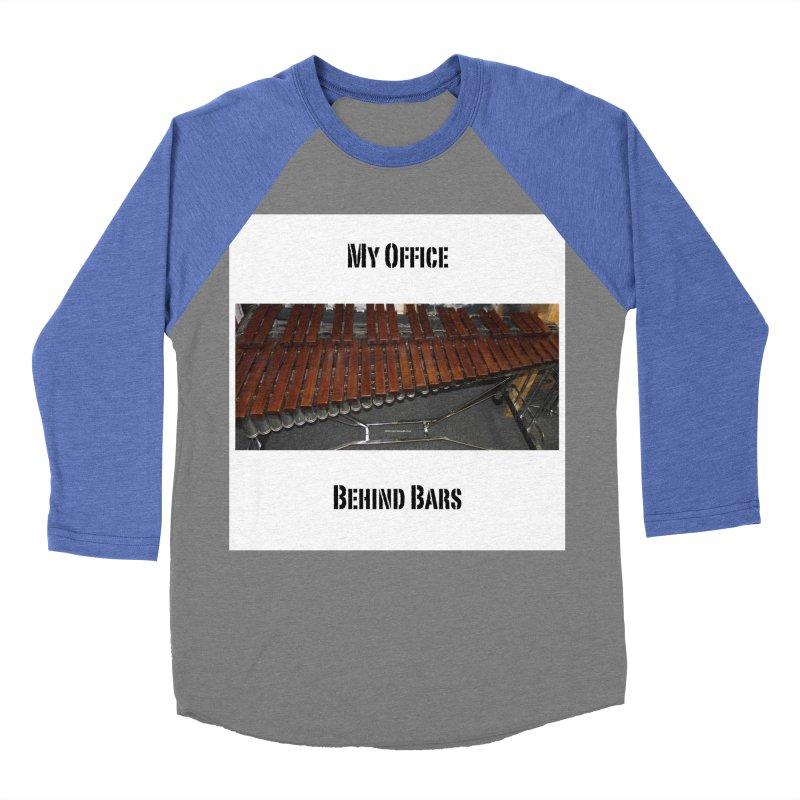 My Office Behind Bars Women's Baseball Triblend Longsleeve T-Shirt by EdHartmanMusic Swag Shop!