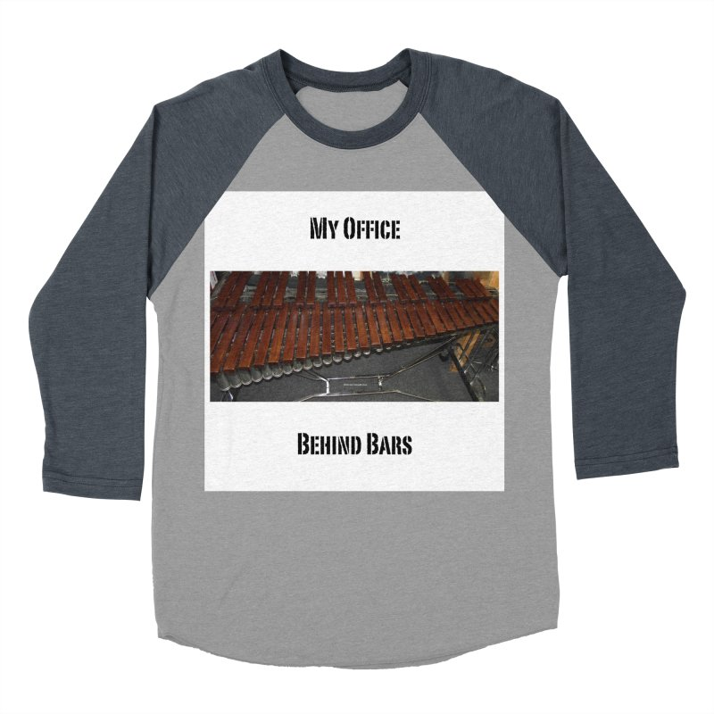 My Office Behind Bars Men's Baseball Triblend Longsleeve T-Shirt by EdHartmanMusic Swag Shop!