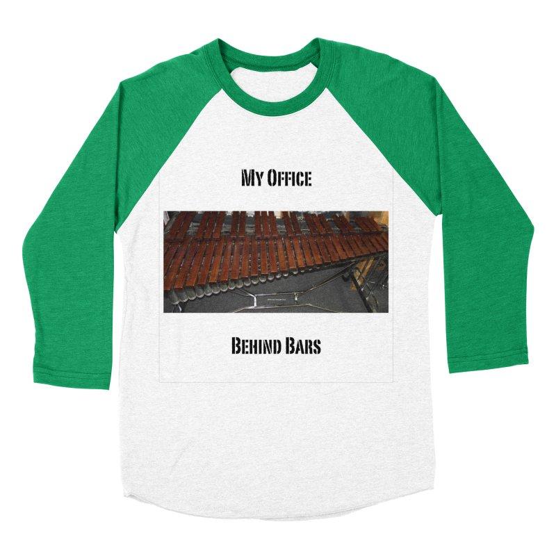 My Office Behind Bars Men's Baseball Triblend Longsleeve T-Shirt by EdHartmanMusic Swag Shop!