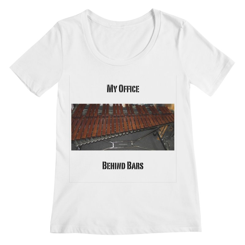 My Office Behind Bars Women's Regular Scoop Neck by EdHartmanMusic Swag Shop!