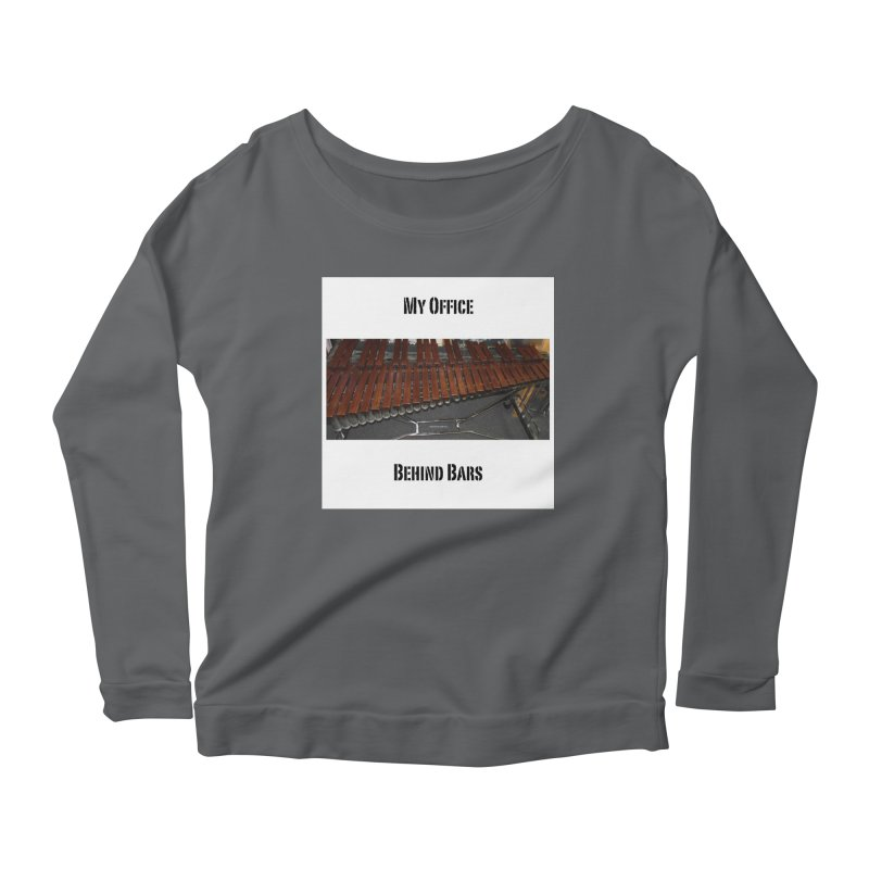My Office Behind Bars Women's Scoop Neck Longsleeve T-Shirt by EdHartmanMusic Swag Shop!