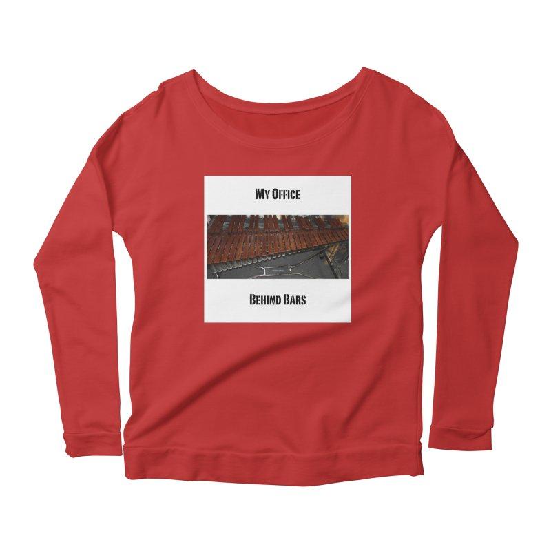 My Office Behind Bars Women's Scoop Neck Longsleeve T-Shirt by EdHartmanMusic Swag Shop!